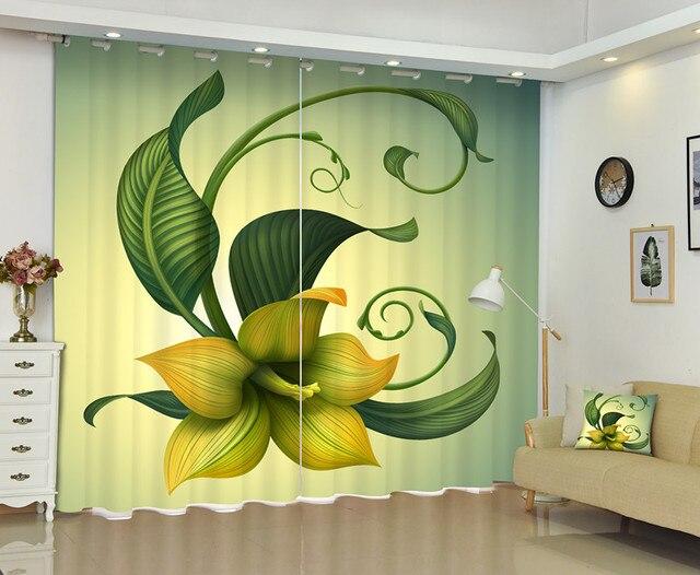 3d articolo pittura di fiori tenda della finestra per soggiorno in