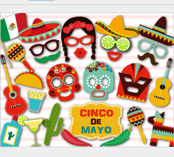 29pcs Set Funny Birthday Summer Party Decor Cute Face Mask Mexican Photobooth Props Prop