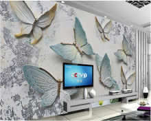 beibehang 3d wallpaper Personality 3D butterfly relief background wall Jane Europe suitable for interior decoration