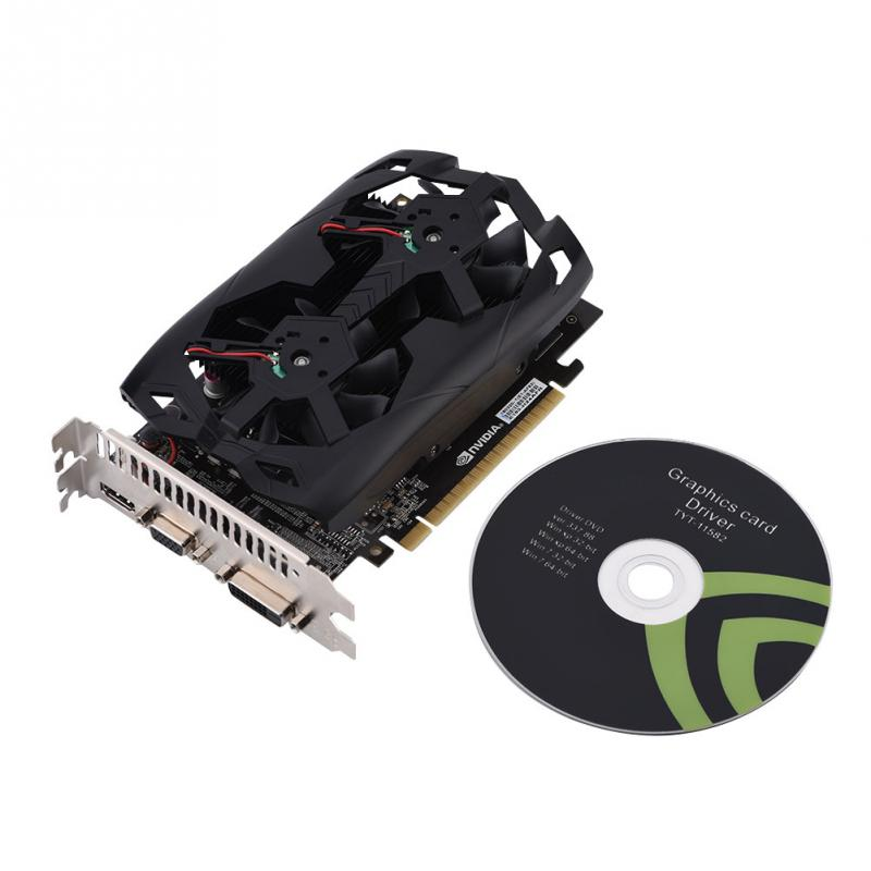 GTX1050TI GDDR5 4G 128Bit Graphics Card HDMI DVI Video Output 3000MHz Memory Frequency VGA Card for PC