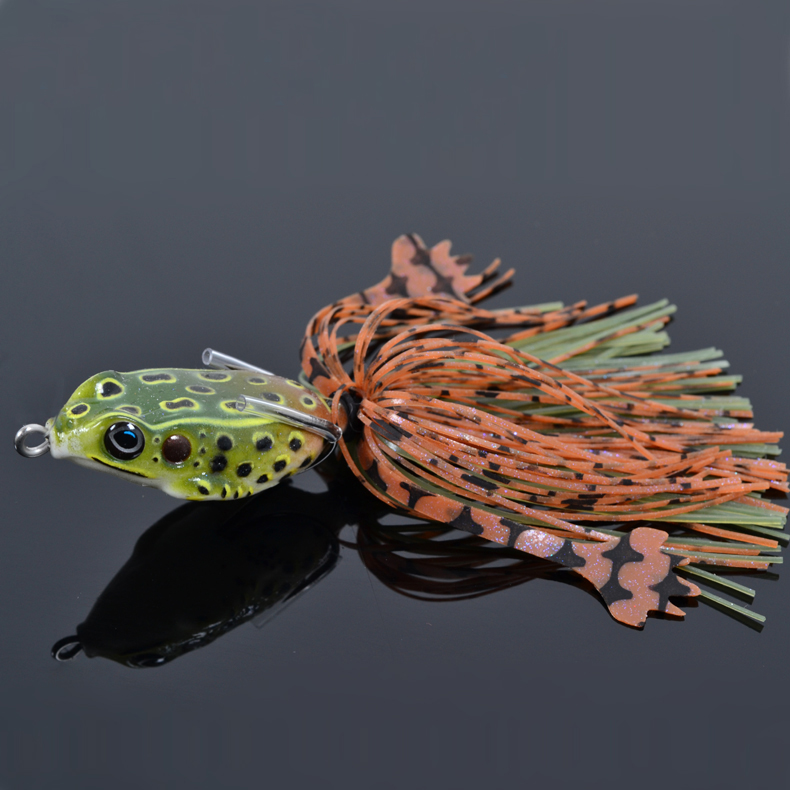 Trulinoya frog fishing lure 40mm 7g isca artificial soft for Frogs for fishing