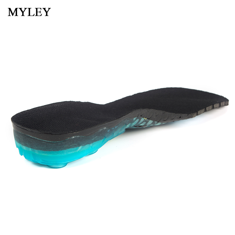 MYLEY Soft Sport Insole Gel Shock Absorption Orthotic Arch Support Anti-Slip Breathable Insoles Pad Foot Pain Relieve Cushions myley gel shock absorption breathable hot sell soft sport insole orthotic arch support anti slip insoles pad for men and women
