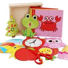 60 pcs ילדים cartoon צבע נייר מתקפל וחיתוך צעצועי עץ תיבת אחסון/ילדי kingergarden אמנות קרפט DIY חינוכיים צעצועים