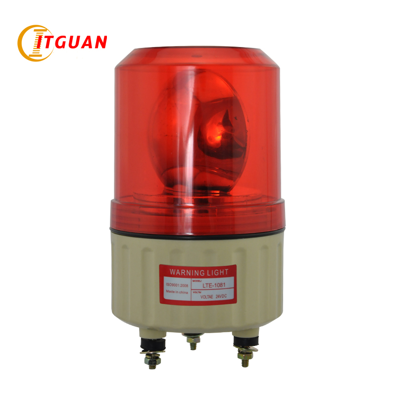 Warning Light LTE-1081 DC12/24V AC220V Bulbs Rotary Warning Lamp No Sound Visual Alarm Indicator Emergency Strobe Light ac dc no bull