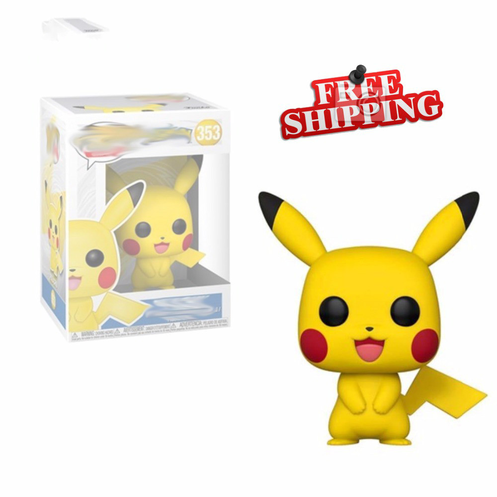 Action Pocket Monster Pikachu 10CM PVC Funco Toy With Original Box Gifts For Child Collectibles Model Toys Pokeball Monster Toys