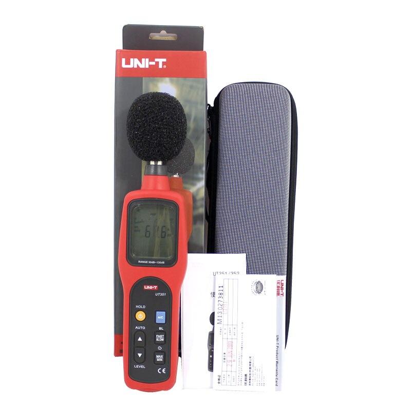 UT351 Sound Level Meters 30 To 130dB noise meter Noise volume test sound tester нитки gutermann 100% п э 30 м 5 шт 744506 132013 351 351