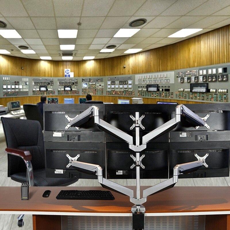 Six écrans de moniteur LCD Support rotatif écran Support de bureau bras de moniteur adaptés pour 10