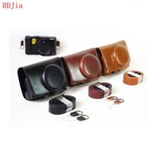 New Pu Leather Camera Case Bag for Panasonic Lumix LX10 with Shoulder strap ,Black/coffee/brown,Free shipping(China)