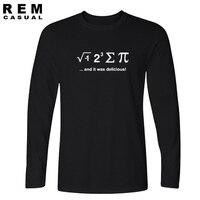 2016 nieuwe grappige t-shirt wiskundige formule Ik EET Een PIE PUZZEL geek nerd jersey s homme mannen Lange mouw