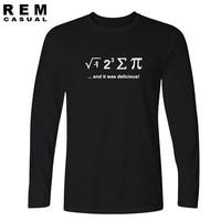 2016 New Funny T Shirt Mathematical Formula I EAT A PIE PUZZLE Geek Nerd Jersey S