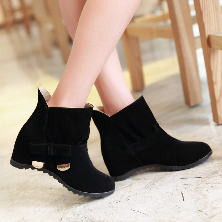 2017 Botas Mujer Big Size 34-43 Fashion Ankle Boots Vintage Brand Low Heels Spring Shoes Autumn Winter For Women Snow Shoe X-4