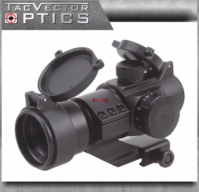 Vector Optics Stinger 1x28 Red Dot Scope Free Honeycomb Sunshade Cantilever Weaver Mount 5 MOA Red / Green Dot Gun Sight