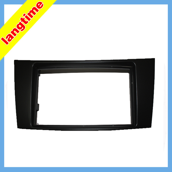 Car refitting DVD frame DVD panel Dash Kit Fascia Radio Frame Audio frame for 01 09 BENZ E CLASS(W211) CLS class C219 2DIN|dvd frame|radio frame|dash kit - title=