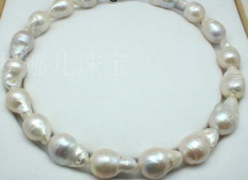 FREE SHIPPING>>@> free shupping 08148 AAA+1818-22mm Natural south sea white baroque pearl necklace NEWFREE SHIPPING>>@> free shupping 08148 AAA+1818-22mm Natural south sea white baroque pearl necklace NEW