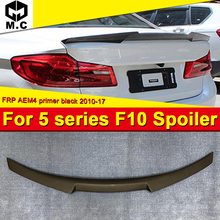F10 M4 style Trunk Spoiler Wing FRP Unpainted For BMW 5 series 520i 528i 530i 535i 550i High Kick Big wing rear spoiler 2010-16 for bmw f10 carbon fiber cf trunk spoiler wing psm style 5 series 520i 525i 530i 550i high kick big rear wing spoiler 2010 2017