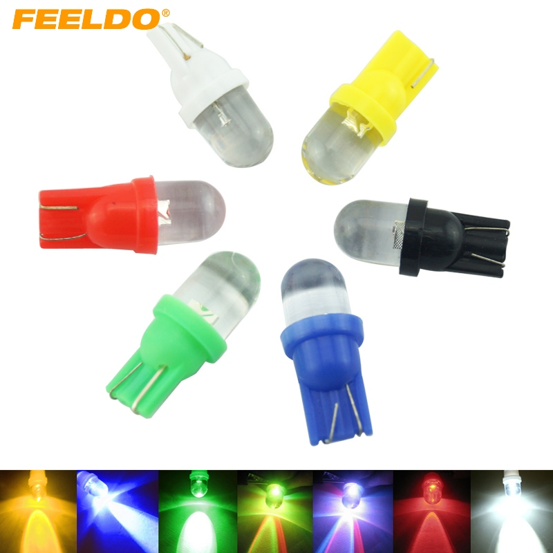 10pcs T10 W5W 168 194 501 1 LED Car Auto Wedge Light Side Dashboard Number Plate Lamp Bulb 12V White/Blue/Red/Green/RGB #FD3802 10pcs 14287 501 qfp new