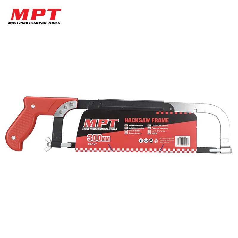 MPT 12/300mm Quick-release Hacksaw Metal Frame Adjustable DIY Saw Blade for Wood Woodworking Multi Purpose Hobby Hand Tool