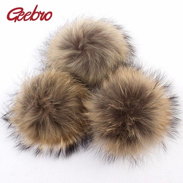 Geebro 50 PZ 15 cm Genuine Natural Pelliccia di Procione Pompon Grande  Palle di pelo Per 24260c77a062