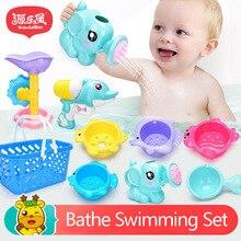 Лидер продаж Летняя Детская Play воды пляжа игрушки для ванной родитель-ребенок интерактивные узор распыления воды Детские игрушки ванны комплект A253