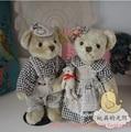 2pcs/set Wedding Teddy Bear With Active Joint  Plush Stuffed Bear Toy Chrismas Gift