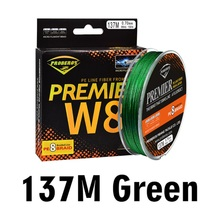 1pcs 8 Strands PE Fishing Line 137M 5 Color Braided Wire Material 15LB-100LB Multifilament line for Carp fishing