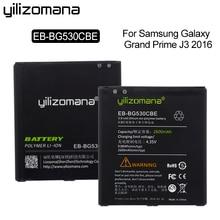 YILIZOMANA Original Phone Battery EB-BG530CBE for Samsung Galaxy Grand Prime J3 2016 G5308W G530 G531F G530H G530F 2600mAh аккумуляторная батарея samsung eb bg530cbe grand prime j5 j3 [eb bg530cbegru]
