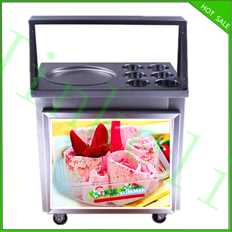 JKL free shipping hot sale 110V 220v commercial single flat ice pan fried icecream machine for sale ...