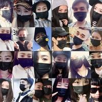 Moledodo 100Pcs/bag Disposable Black Mouth Mask Black Face Mask Medical Dental Earloop Anti Dust Flu PM2.5 Mouth Mask D50