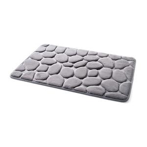 Image 4 - Coral Fleece Bathroom Memory Foam Rug Kit Toilet Bath Non slip Mats Floor Carpet Set Mattress For Bathroom Decor 40x60cm