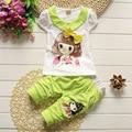 2017 summer hot sale baby girls solid color short sleeve t-shirt girl tops Korean children's clothing