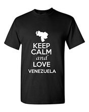 2017 New Arrivals Keep Calm And Love Venezuela Country Novelty Patriotic Adult Tee Cotton t shirt slogans Customized shirts