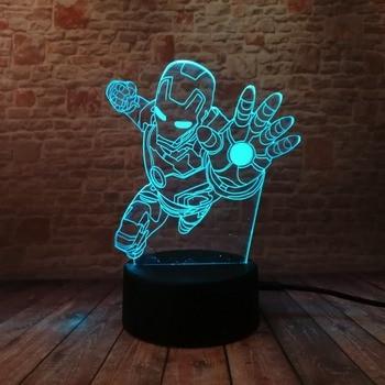 Lampe de nuit Ironman Marvel 7 Couleurs