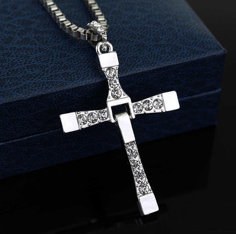 MQCHUN Форсаж цвет серебристый, Золотой подвеска в виде Креста для ожерелья крест Доминика Торетто Для Мужчин's Цепочки и ожерелья Косплэй подарок-30