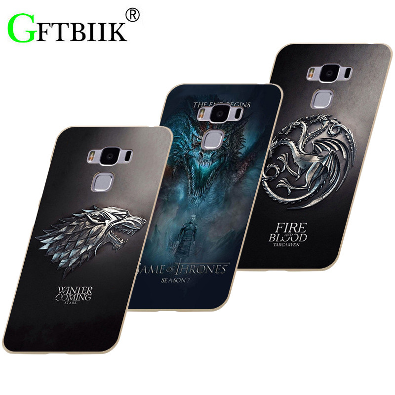 Cute Cartoon Case For Asus Zenfone 3 MAX ZC553KL 5.5 Hard Plastic Case Fashion Printed Cover Game of Thrones 7