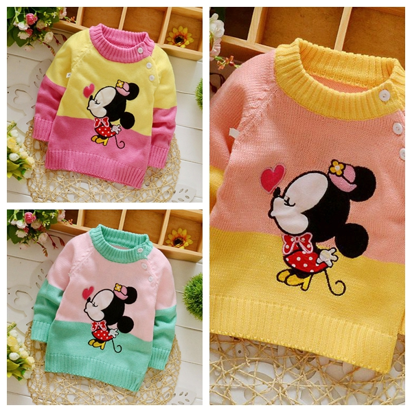 2017 New Baby Boys Sweaters 3D Rabbit Cotton Pullover Kids Girls Knitted Sweater Girls Boys Cardigan