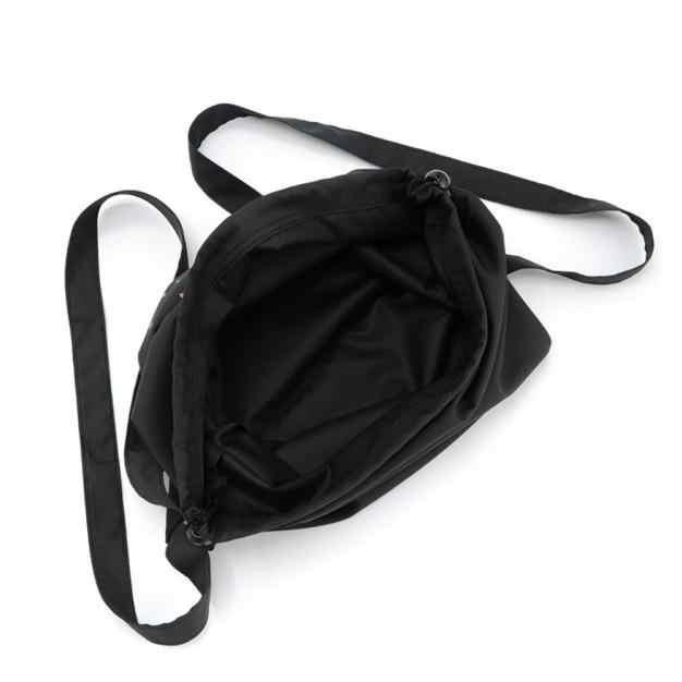 女性男性スポーツバックパック大容量旅行乗馬ナイロン固体ファッション摩耗ストリング袋収納シンチ袋屋外バッグ # DX