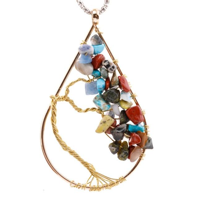 Tree Of Life Necklace Pendant Family Tree Copper Pendant Wire Tree ...