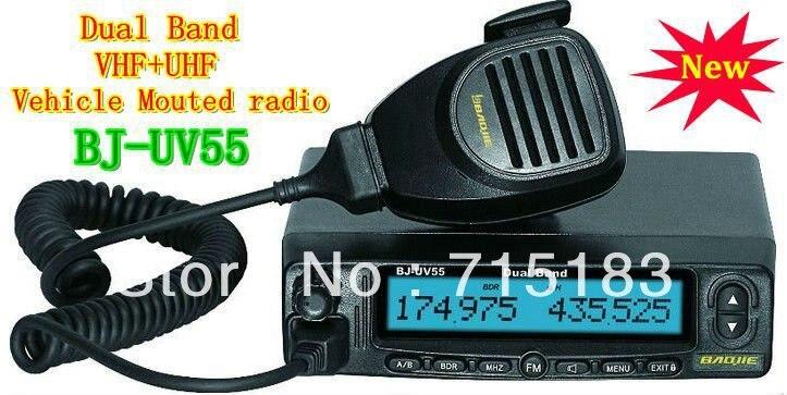 Dual Band Vehicle Transceiver/Mobile Radio VHF 136-174MHz & UHF:400-480MHz 45W/35W 128CH BJ-UV55