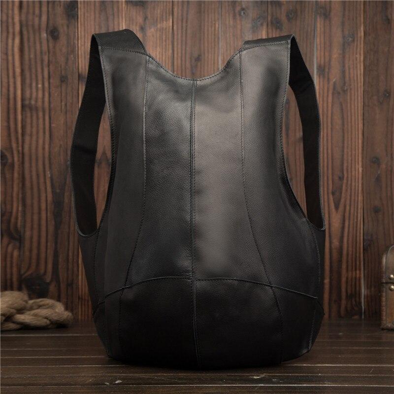 Sac à dos en cuir véritable pour hommes Mini sac à dos pour femmes d'affaires Messenger rétro sac fourre-tout décontracté sac à bandoulière sac de voyage pour hommes sac à main en cuir de vachette - 6
