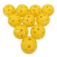 10 шт Пластиковый воздушный поток полый мяч для гольфа тренировочный спортивный мяч внутренний тренировочный мяч для гольфа для предигрового теплого ИБП