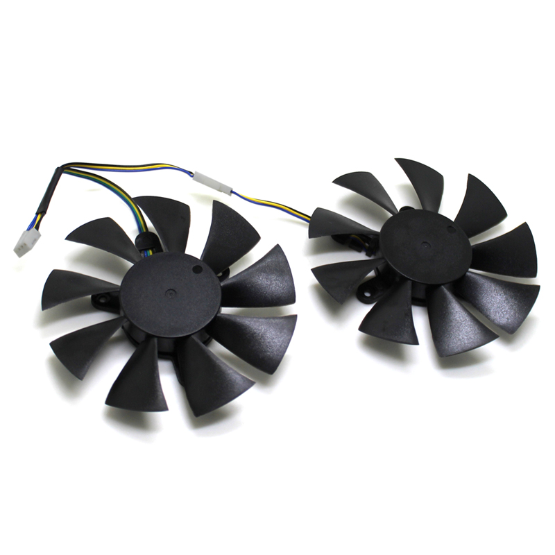 2pcs/Lot 85mm 4pin Cooler Fan Replace For ZOTAC <font><b>GTX</b></font> 1070 <font><b>MINI</b></font> <font><b>GTX</b></font> <font><b>1060</b></font> 6GB GTX1060 Graphics Card Cooling Fan GFY09010E12SPA image