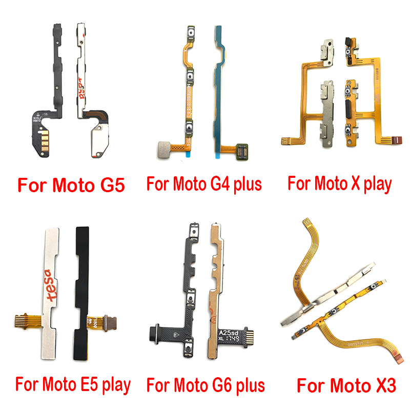 Power On Off Volume Button Flex Cable For Motorola Moto G5 G5S G6 E5 G4 Plus Play Repair Parts