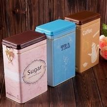 12*8*19,5 см ZAKKA жестяная коробка для кофе Европейский стиль ретро бак для хранения Получить прямоугольные металлические коробки банки герметичные