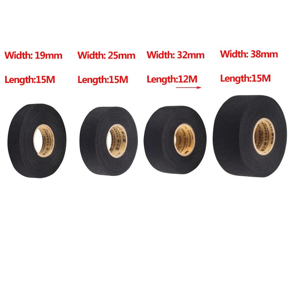 medium resolution of 1pc 19mmx15m black car auto wiring harness flannel adhesive felt tape 25mmx15m 32mmx12m 38mmx15m noise reduction tape in tape from home improvement on