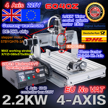 From UK warehouse free shipping New product!!! 4-Axis 6040Z 1500W USB Mahc3 CNC engraving machine 220VAC