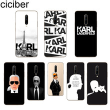 ciciber Karl Lagerfeld Phone Case For Oneplus 7 Pro 1+7 Pro Soft TPU Cover for Xiaomi 9 Coque For Redmi Note 7 6 Pro Funda Shell
