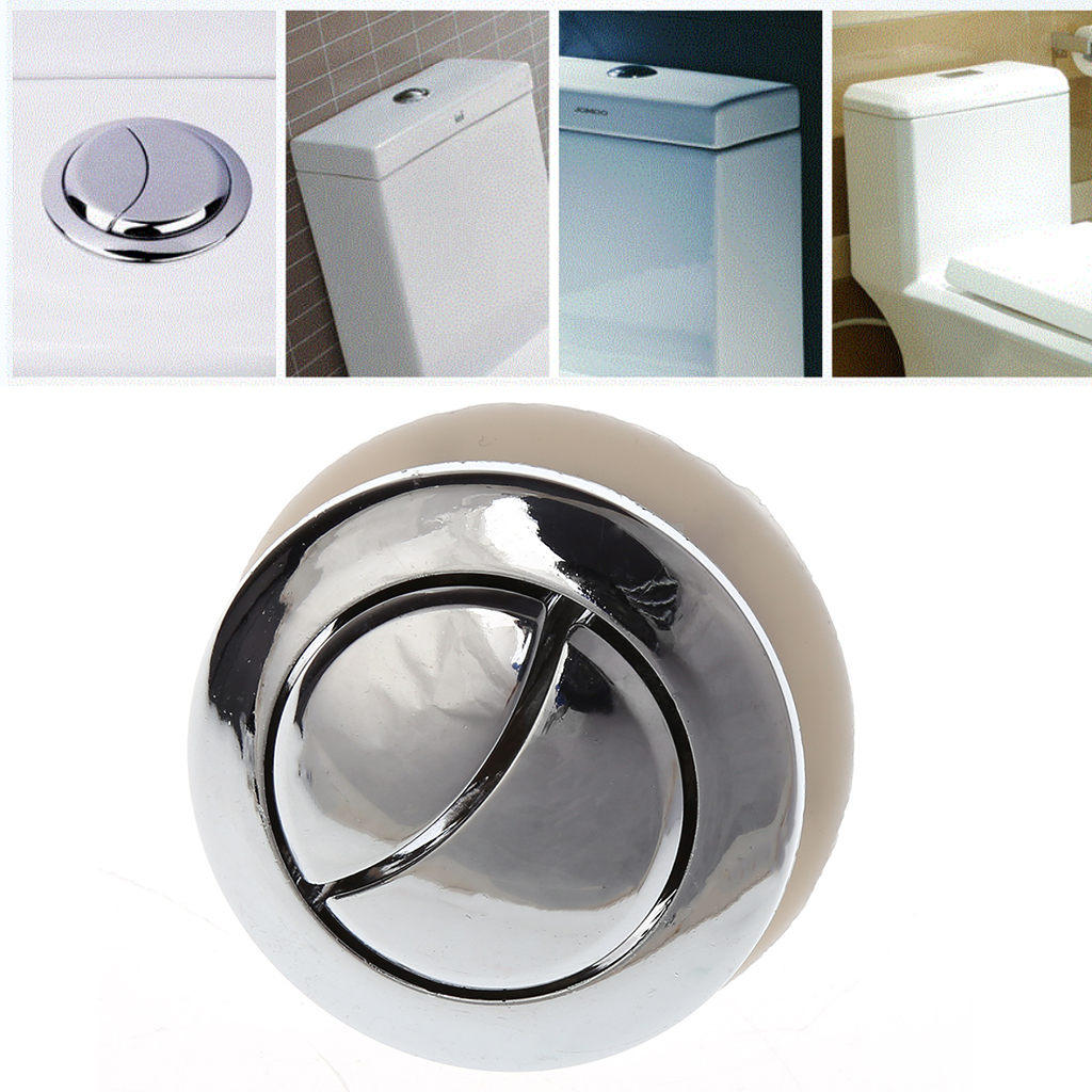 Stainless Steel Eco Dual Flush Button Concealed WC Toilet Cistern Front Access