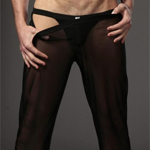 Transparent Long Pants Sexy Men Loose Mesh Lounge Loose-Fitting Fitness Pants Pyjama Trouser Sleep Pant Gay Lingerie FX1016 Lahore