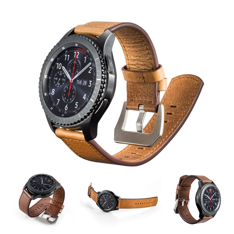 URVOI band for Samsung Galaxy Gear S3 R760 R770 retro leather strap for Panerai buckle quick release pins classic design 22mm смарт часы samsung galaxy gear s3 classic sm r770 1 3 серебристый черный [sm r770nzsaser]