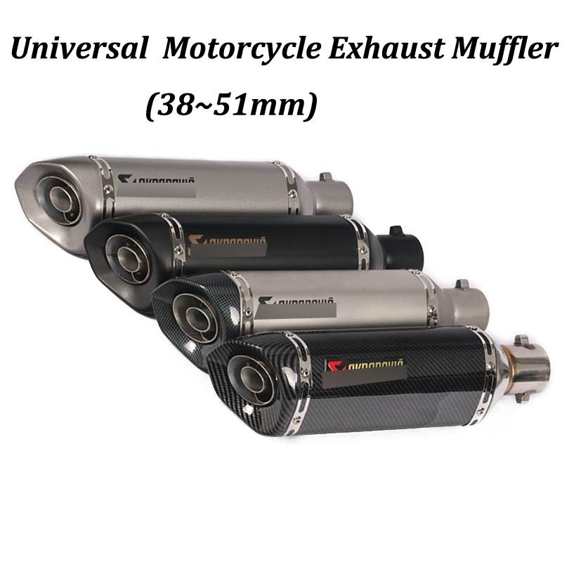 38 51mm Motorcycle Exhaust Muffler Modified with DB Killer For PCX150 CBR125 CBR150 MSX125 M3 MSX125SF